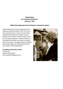 Media-Release-William-Rose-appointed-Artist-in-Residence-2013