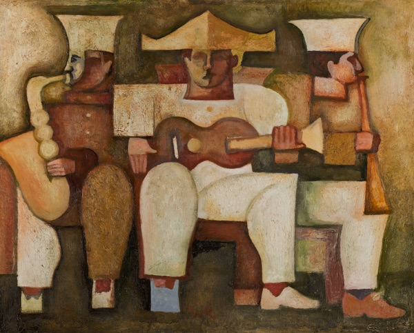 Three Musicians in Ochres